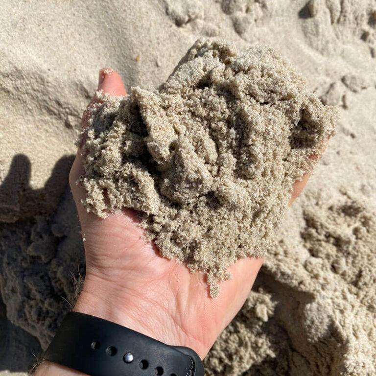 strandsand og sandkassesand